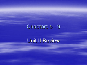 Unit II Review