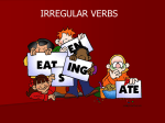 Irregular verbs lesson plan