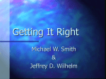 Getting It Right - MSU English Education