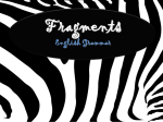 Fragments English Grammar