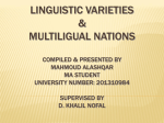 linguistic varieties multiligual nations