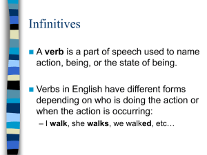 Infinitives - WaltripSpanish