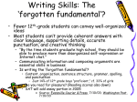 Building Writing and Grammar Skills