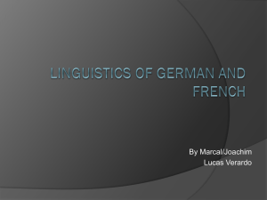 A Linguistic Exploration of German and French