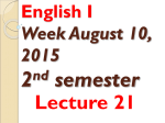ALB 131 Lecture 2, week 2 term 2