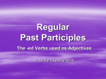 Past Participles Regular