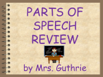 Parts of Speech Quiz