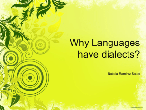 Why languages have dialects