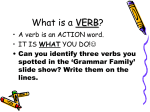 What is a VERB? - partsofspeech4