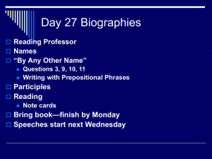 Day 27 Biographies