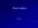 Root Letters