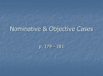 Nominative & Objective Cases
