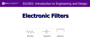 Lab 7 - Electronic Filters (C and G Sections Only)