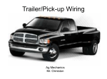 Trailer/Pick-up Wiring