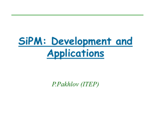 SiPM: Development and Application