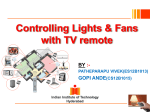 Controlling Lights & Fans with TV remote