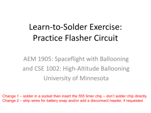 Learn-to-Solder Exercise: Practice Flasher Circuit