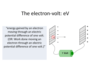 The electron-volt - Hockerill Students