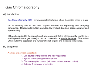 Chapter 27: Gas Chromatography