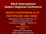 REMOTE MONITORING of CP FOR PIPELINES AND TANKS