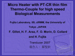 Micro Heater with PT-CR thin film Thermo
