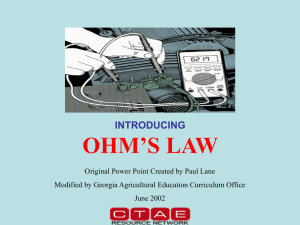 Ohm`s Law PowerPoint
