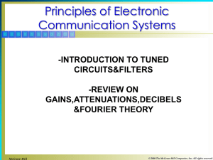 week2_Introduction to tuned circuits&filter