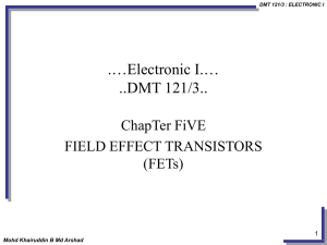 Chapter 05-Field Effect Transistors (FETs)
