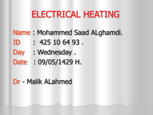 electrical heating - Home - KSU Faculty Member websites