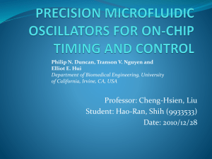 precision microfluidic oscillators for on