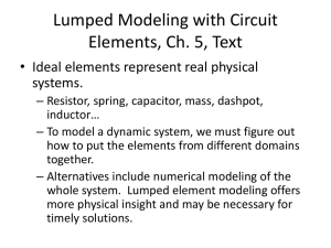 Lumped Modeling with Circuit Elements, Ch. 5, Text