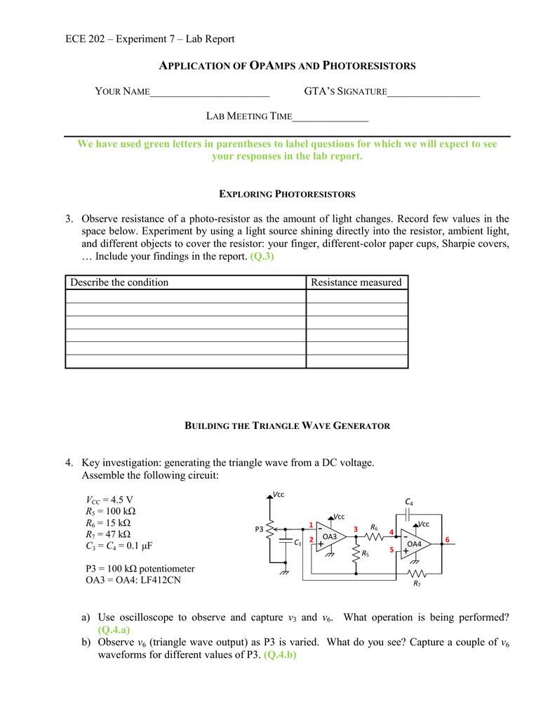 A O P Triangular Wave Generator Circuit