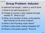 Group Problem: Inductor
