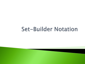 Set-Builder Notation