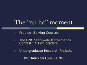 PROBLEM SOLVING COURSES - School of Mathematical Sciences