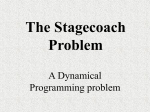 The Stagecoach Problem