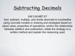 UW.5.M.NBT.07 Add, subtract, multiply, and divide decimals