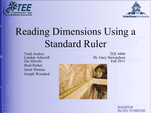 Reading Dimensions Using a Standard Ruler