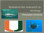 Statistics for research in ecology