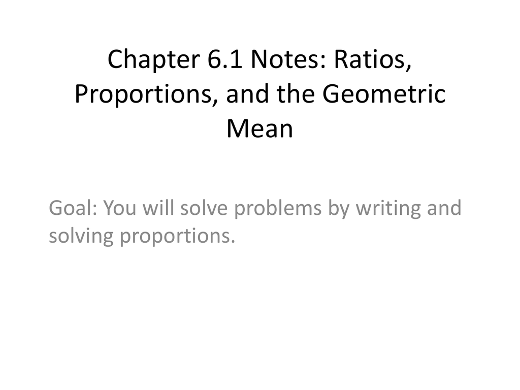 ratio and proportion solved problems