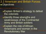 1.7 American and British Forces