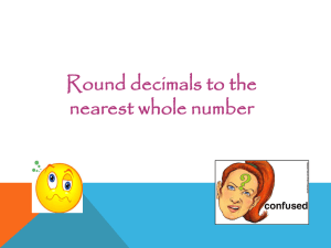 Fractions Decimals and Percentages Revision