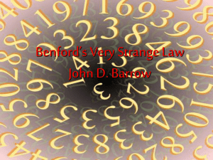 Benford`s very strange law