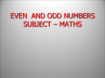 even and odd numbers - e-CTLT