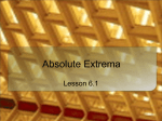 Absolute Extrema