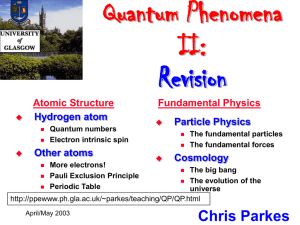 Transparancies for Revision Lecture - University of Manchester
