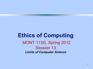 Session 13 - Computer Science