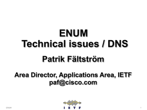 ENUM Technical Issues/DNS, Mr. Patrik Fältström