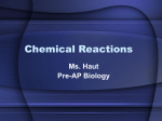 Chemical Reactions-2007