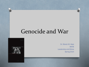 Geneocide and War